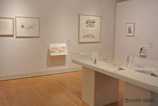2015年グランプリ ローラ・カーリン「あなたがつくる世界」「アイアンマン」。原画に使われている「素材」も展示されています。