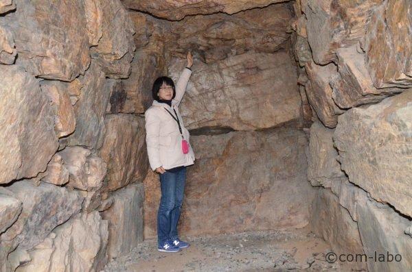 足利公園古墳群を発掘調査するきっかけとなった3号墳の石室内部
