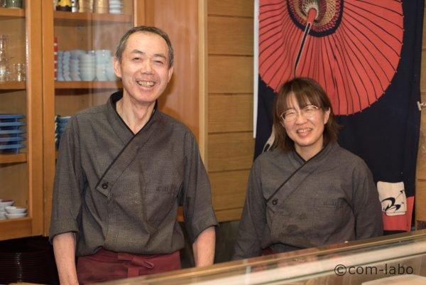 「いちえ」の親方、菊地利行さんと相棒の敦江さん